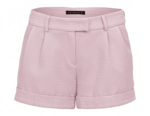 Pink shorts with decorative thread