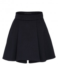 Cashmere skirt in navy blue color