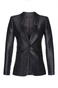 Jacket with cut-outs in the flaps made of wool boucle