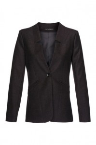 Jacket with cut-outs in the flaps made of high quality wool and cashmere